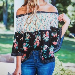 Off the shoulder floral top